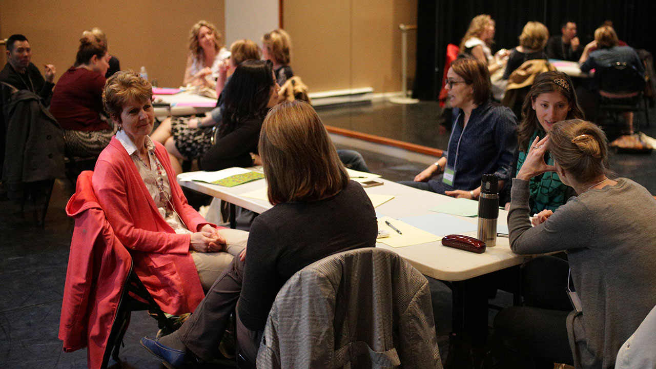 The next morning began with teacher workshops . . .