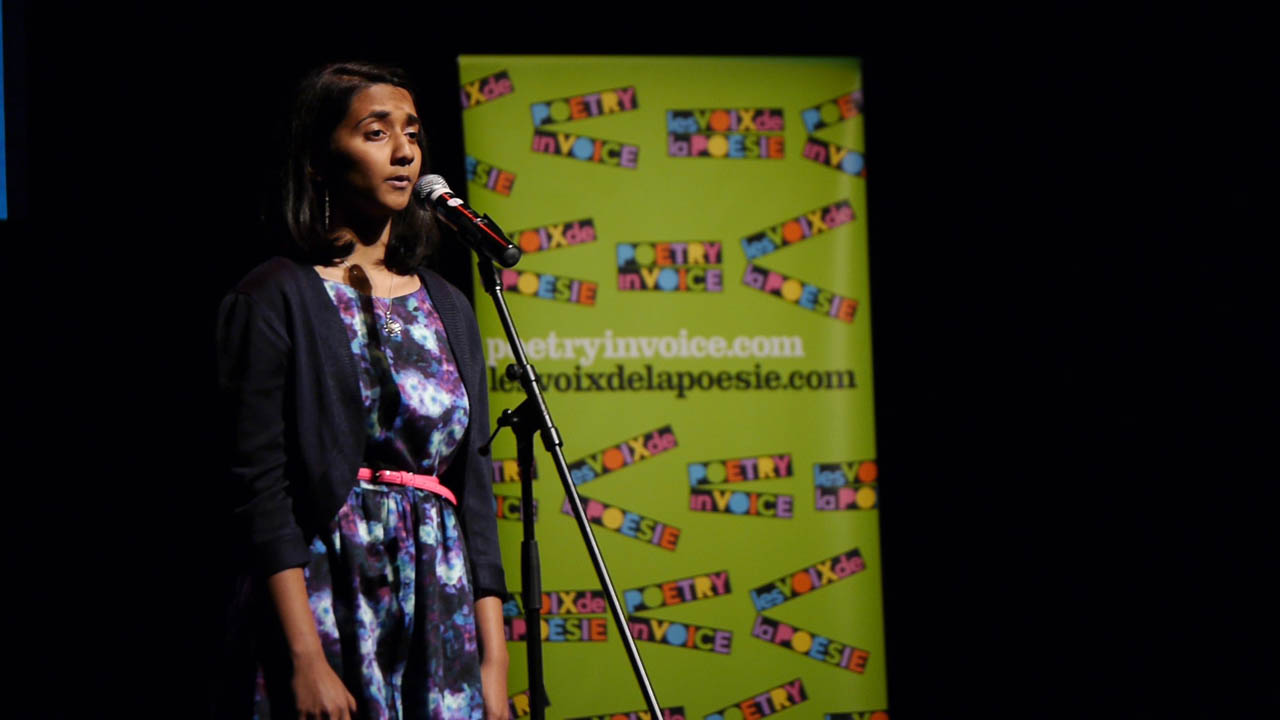 "Arrthy Thayaparan, from Crofton House School, recites ""I Wandered Lonely as a Cloud"" by William Wordsworth"