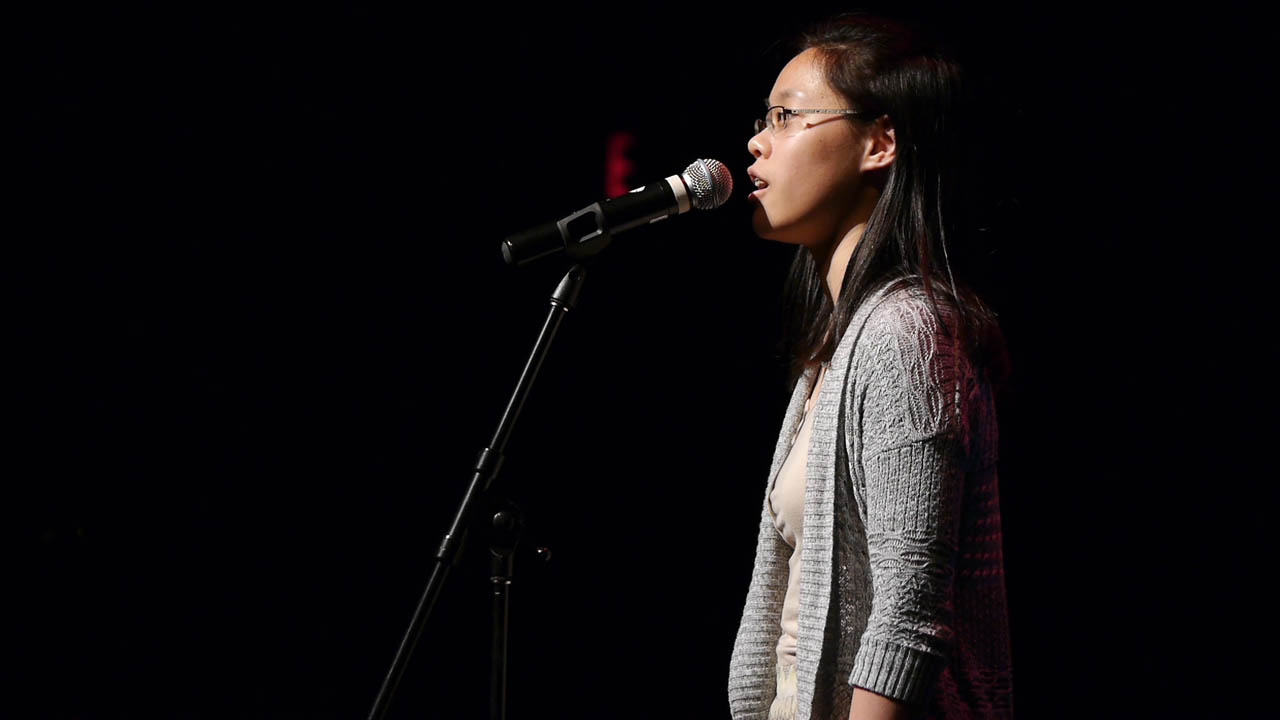 "Kathleen Chen, from Toronto French School, recites ""The Bull Moose"" by Alden Nowlan"