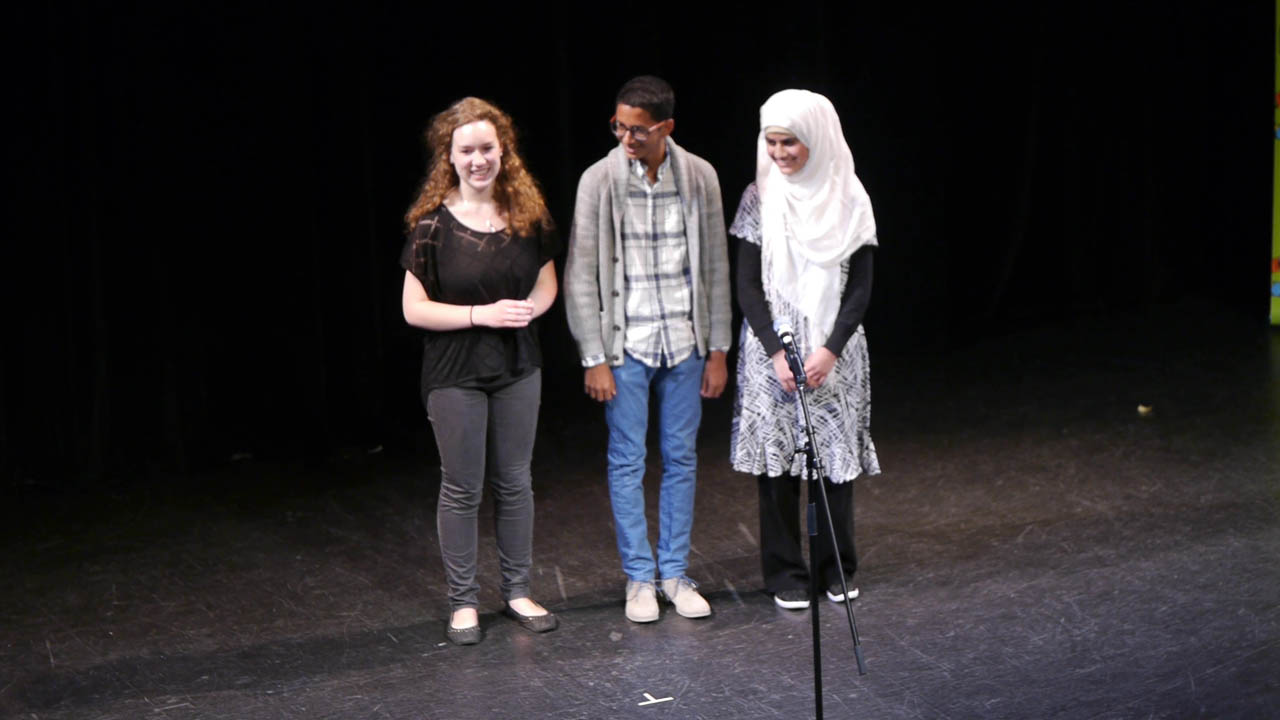 Bilingual Prize Stream finalists Elisabeth Sohier-Poirier, Khalil Mair, and Aisha Nafees were selected to compete again on May 15.