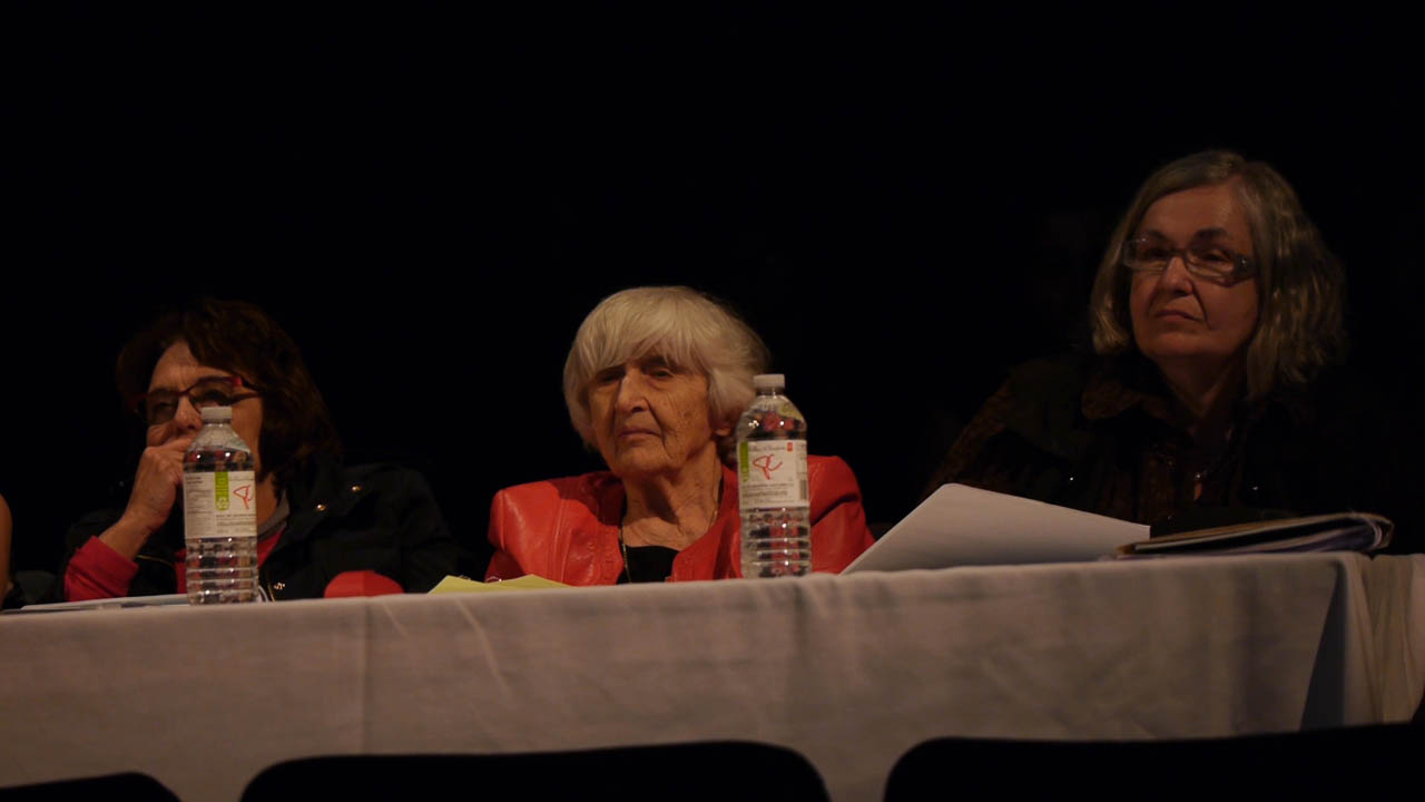 French prize stream judges (l. to r.): Lélia Young, Marguerite Andersen, and Suzanne Legault.