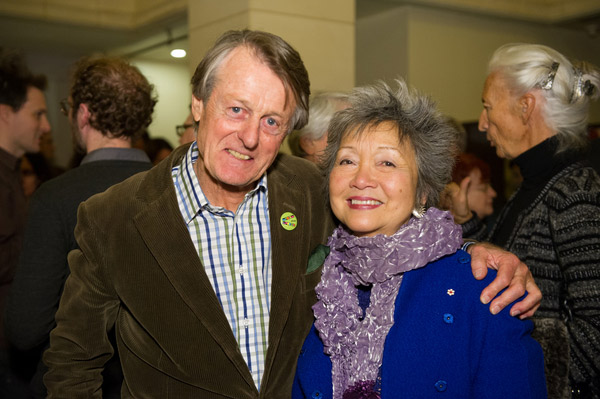 Scott Griffin and the Right Honourable Adrienne Clarkson.