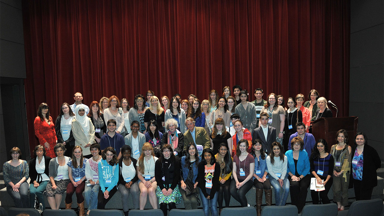 National Finalists and their chaperones with Margaret Atwood, Scott Griffin, and Damian Rogers.
