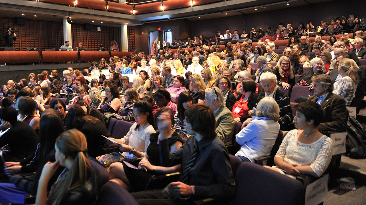 The audience at the Isabel Bader theatre on the night of May 15, 2013.