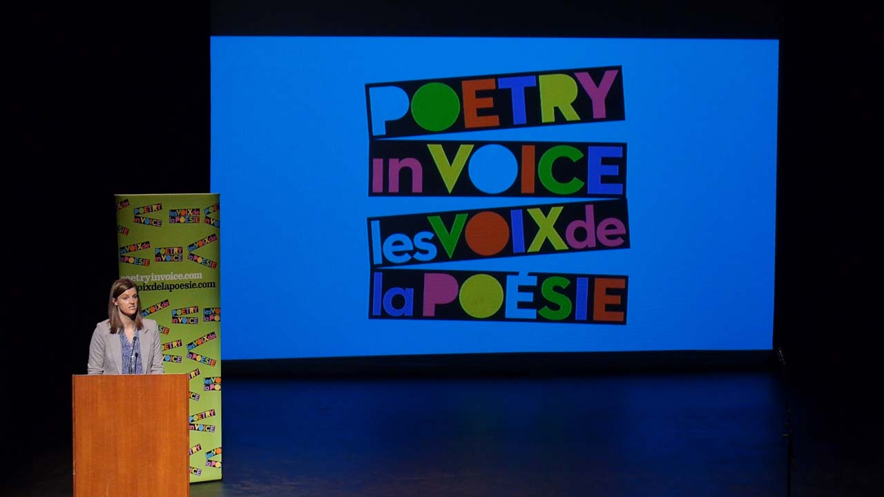 Liisa House, Educational Consultant at Poetry In Voice, hosted the Bilingual stream session.