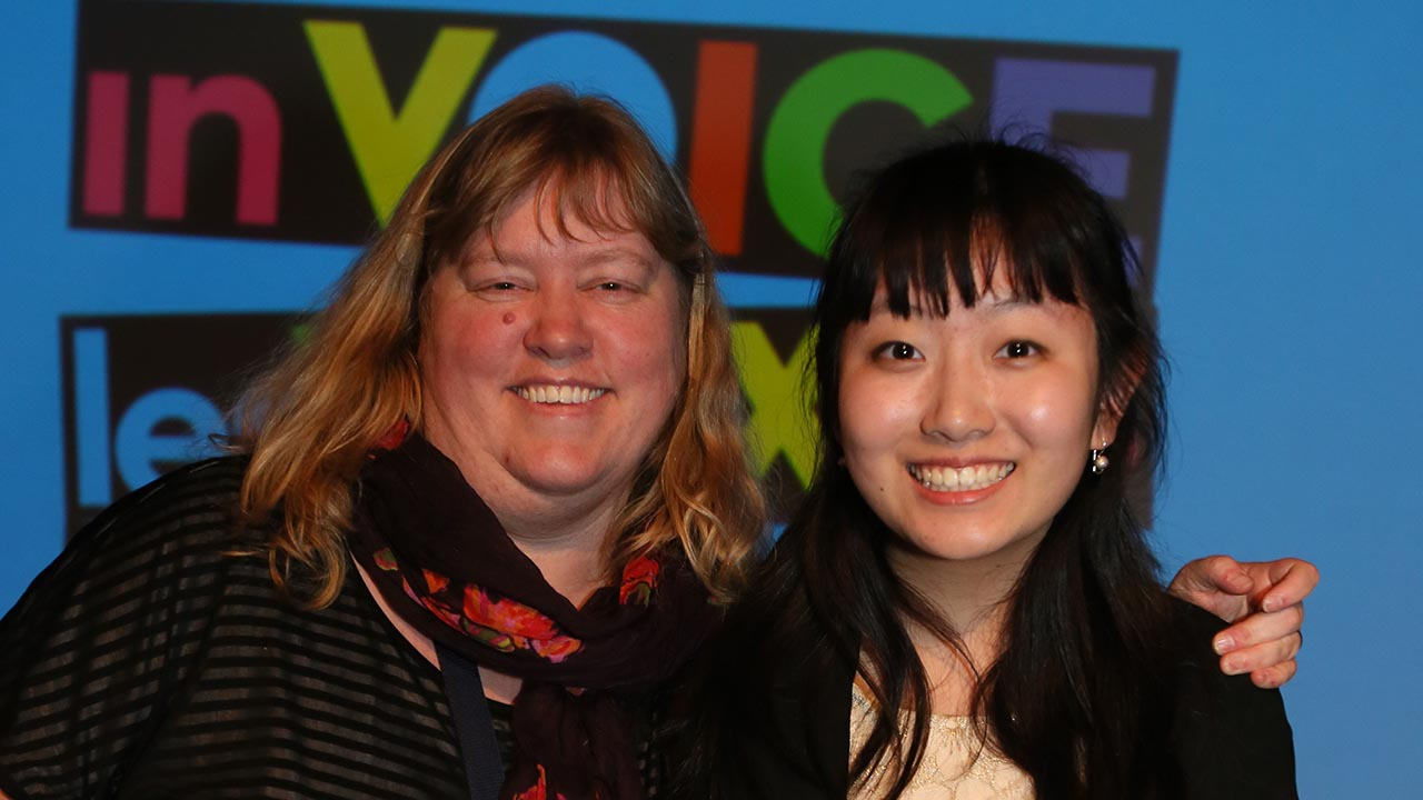 Julia MacRae and Vicky Yi Qing Liu of Fraser Heights Secondary School (Surrey, BC).